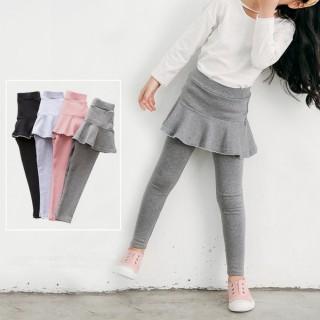 【小衣衫童裝】女童波浪小花邊短裙假2件長褲裙褲(1070930)  小衣衫童裝
