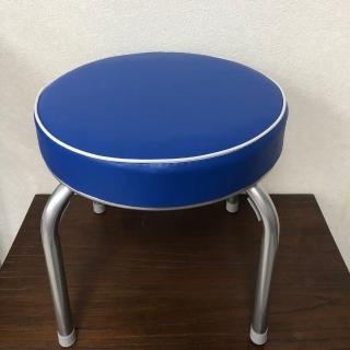 【Brother 兄弟牌】丹非厚墊圓型椅凳寶藍色*2張/箱(戶外休閒)  Brother 兄弟牌