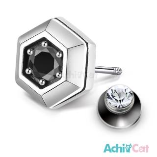 【AchiCat】925純銀耳環 復古六角形 栓扣式耳環 抗過敏鋼耳針 GS7067  AchiCat