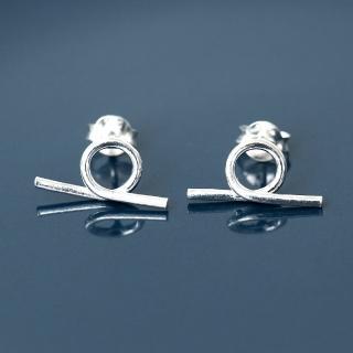 【玖飾時尚】925純銀趣味扭圈造型耳針耳環(925純銀)  玖飾時尚