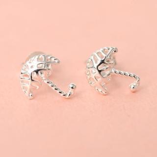 【玖飾時尚】925純銀鏤空小雨傘耳針耳環(925純銀) 推薦  玖飾時尚