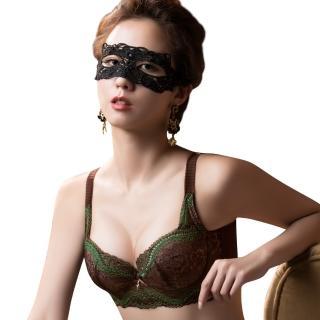 【Swear 思薇爾】薔薇魅影系列B-G罩背心式蕾絲包覆內衣(深可可)  Swear 思薇爾