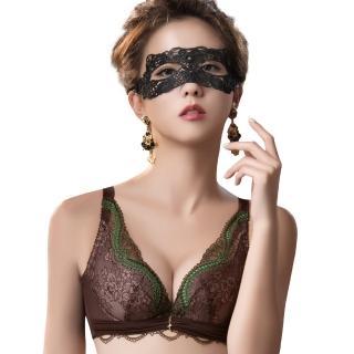 【Swear 思薇爾】薔薇魅影系列B-E罩深V蕾絲包覆內衣(深可可)  Swear 思薇爾