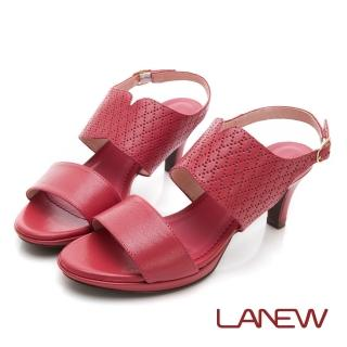 【La new】羊皮中跟涼鞋(女224063056)好評推薦  La new