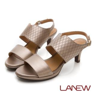 【La new】羊皮中跟涼鞋(女224063086)  La new