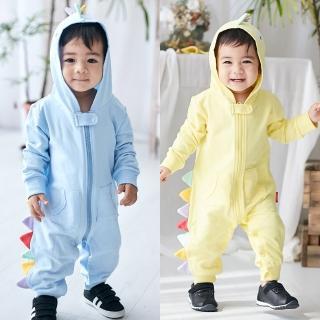 【Baby童衣】立體造型長袖拉鍊連身衣 82043(共2色)真心推薦  Baby童衣