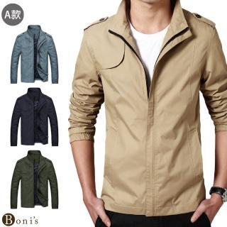 【Boni's】男士休閒風衣夾克(共3款)  Boni's