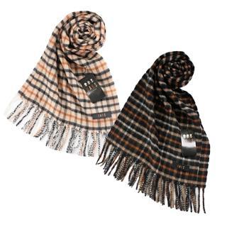 【DAKS】經典正格紋喀什米爾圍巾(2色)好評推薦  DAKS