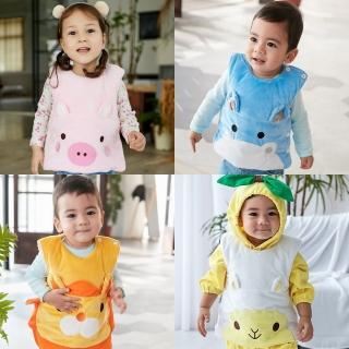 【Baby童衣】水晶絨動物臉譜夾棉保暖背心 82045(共4色) 推薦  Baby童衣