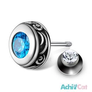 【AchiCat】925純銀耳環 復古圓形 栓扣式耳環 抗過敏鋼耳針 GS7082好評推薦  AchiCat