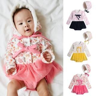 【Baby童衣】保暖空氣棉碎花包屁紗裙+帽 82010(共3色)  Baby童衣