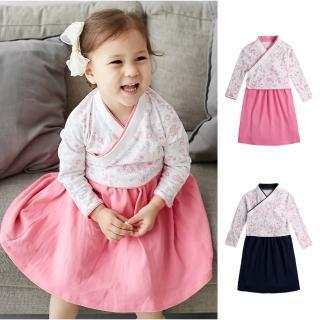 【Baby童衣】中國風假兩件復古造型連衣裙 82031(共2色)好評推薦  Baby童衣