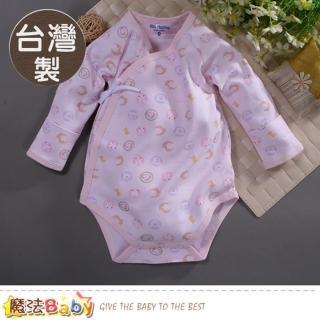 【魔法Baby】包屁衣 台灣製秋冬純棉護手嬰兒連身衣(a70166)  魔法Baby