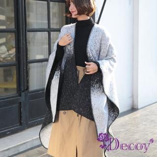 【Decoy】星河漫遊*漸變加大流蘇保暖斗篷式披肩 推薦  Decoy