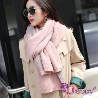 【Decoy】鳳梨胸針*學院男女中性保暖圍巾/粉  Decoy