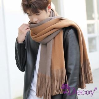 【Decoy】雅痞雙色*男女中性情侶保暖圍巾/卡其灰  Decoy