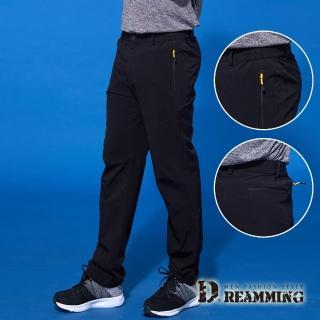 【Dreamming】速乾極薄透氣彈力鬆緊休閒長褲(黑色)  Dreamming
