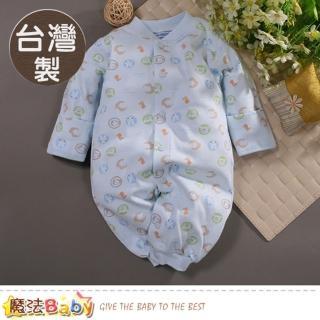 【魔法Baby】包屁衣 台灣製秋冬厚款純棉護(a70170)  魔法Baby