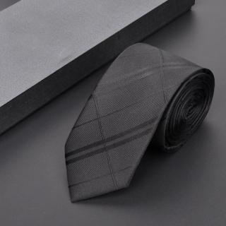 【拉福】亂波交叉紋窄版拉鍊領帶(黑色 兒童)強力推薦  拉福