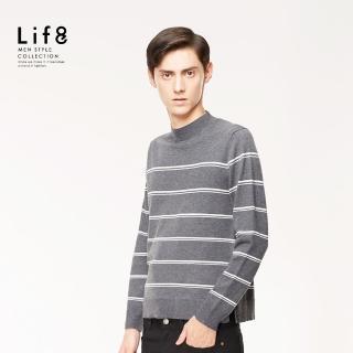 【Life8】Formal 彈力紗 簡約小高領 針織衫(11179)好評推薦  Life8