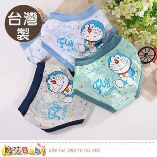 【魔法Baby】男童內褲 四件一組 台灣製哆啦A夢正版純棉三角內褲(k50956)  魔法Baby