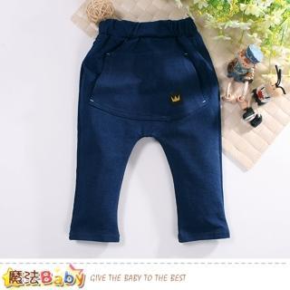 【魔法Baby】1-3歲幼兒牛仔褲 鬆緊帶秋冬牛仔長褲(k60728)  魔法Baby