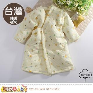 【魔法Baby】嬰兒長袍 台灣製三層棉厚保暖純棉護手長睡袍(b0095)推薦折扣  魔法Baby
