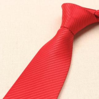 【拉福】斜紋領帶8cm寬版領帶拉鍊領帶(兒童 大紅)好評推薦  拉福