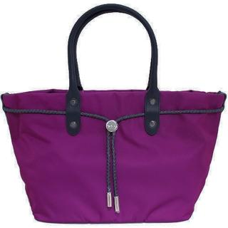 【agnes b.】帆布麻繩束袋手提包小(桃紫色)  agnes b.