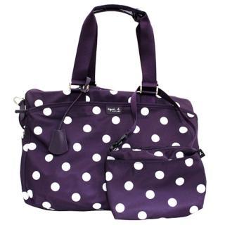 【agnes b.】點點旅行袋大(紫色)強力推薦  agnes b.