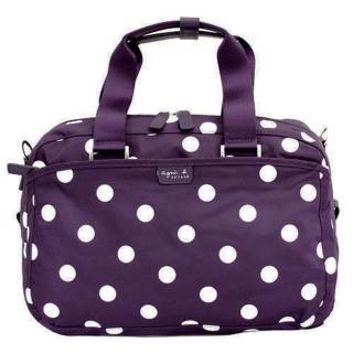 【agnes b.】點點旅行袋小(紫色)  agnes b.