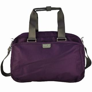 【agnes b.】限量經典多功能旅行袋小(紫色)推薦折扣  agnes b.