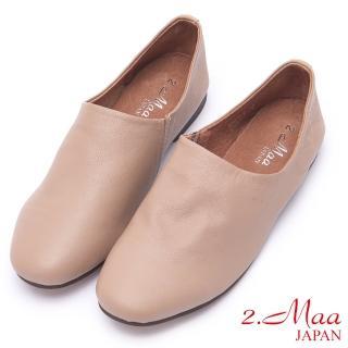 【2.Maa】好穿好走柔軟羊皮懶人鞋(米)  2.Maa