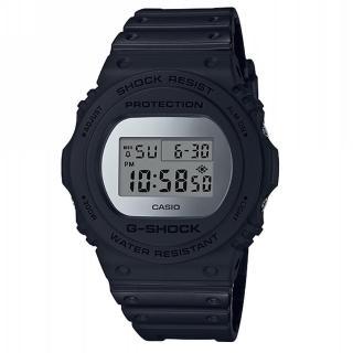【CASIO 卡西歐】G-SHOCK 經典錶款DW-5700系列/45mm/消光黑x鏡面銀(DW-5700BBMA-1)  CASIO 卡西歐