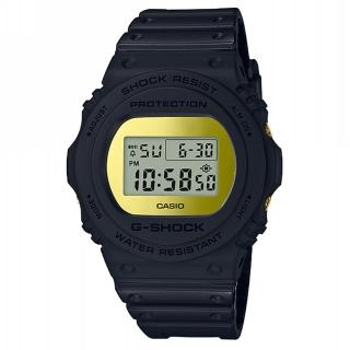 【CASIO 卡西歐】G-SHOCK 經典錶款DW-5700系列/45mm/消光黑x鏡面金(DW-5700BBMB-1)強力推薦  CASIO 卡西歐