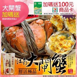 【優鮮配】特A規鮮活江南大閘蟹4隻(5.5兩/隻)好評推薦  優鮮配