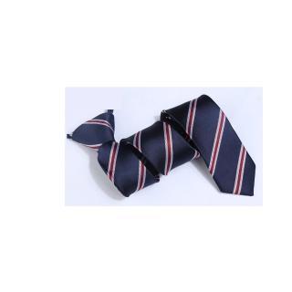 【拉福】領帶窄版領帶6cm拉鍊領帶(藍紅斜紋)  拉福