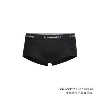 【Icebreaker】女 Sprite 四角內褲-BF150-黑(IB103023-001)好評推薦  Icebreaker