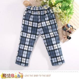 【魔法Baby】兒童長褲 棉柔舒適束口長褲(k60764)  魔法Baby