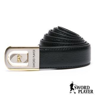 【SWORD PLAYER】莎普爾簍空金邊款皮革珠扣式皮帶  SWORD PLAYER