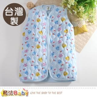 【魔法Baby】嬰幼兒長袍 台灣製鋪棉厚款保暖背心睡袍(k60776) 推薦  魔法Baby