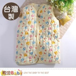 【魔法Baby】嬰幼兒長袍 台灣製鋪棉厚款保暖背心睡袍(k60777)  魔法Baby