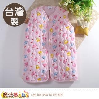 【魔法Baby】嬰幼兒長袍 台灣製鋪棉厚款保暖背心睡袍(k60778)  魔法Baby