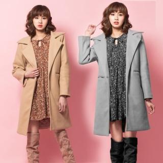 【Abbie】時尚保暖經典羊毛大衣(現貨熱銷中)推薦折扣  Abbie