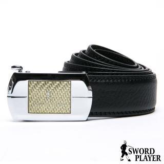 【SWORD PLAYER】莎普爾金編款皮革式自動扣皮帶  SWORD PLAYER