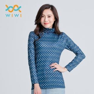 【WIWI】經典米奇溫灸刷毛高領發熱衣 女/三色 S-2XL  WIWI