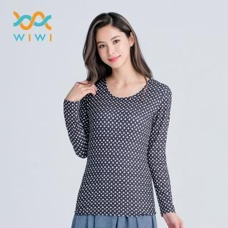 【WIWI】米奇點點溫灸刷毛圓領發熱衣 女/四色 S-2XL推薦折扣  WIWI