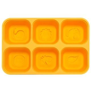 【MARCUS&MARCUS】動物樂園矽膠副食品分裝保存盒(黃色)  MARCUS&MARCUS