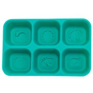 【MARCUS&MARCUS】動物樂園矽膠副食品分裝保存盒(綠色)  MARCUS&MARCUS