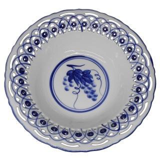 【KC】歐式高級鏤空瓷碗-青花圓形沙拉碗小(RC002)好評推薦  KC